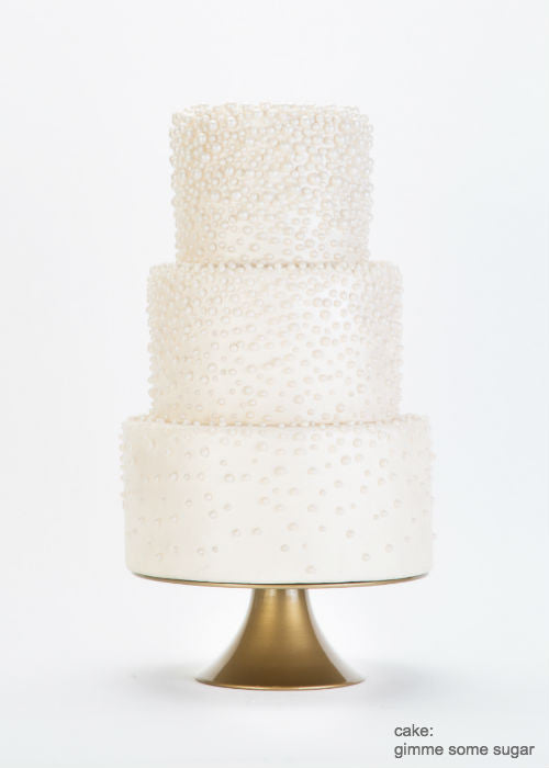 Beautifully Detailed Cake on a 10 inch Gold Cake Stand
