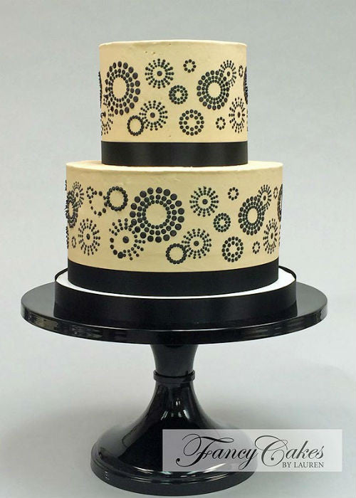 Classy Cake tailor fit to a 14 inch Black Cake Stand