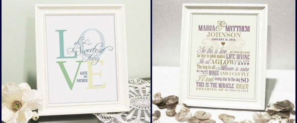 Giveaway #8: Wedding Print