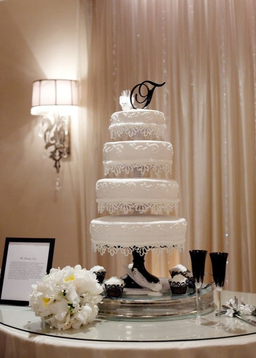 Striking Cake on 14 inch Black Cake Stand