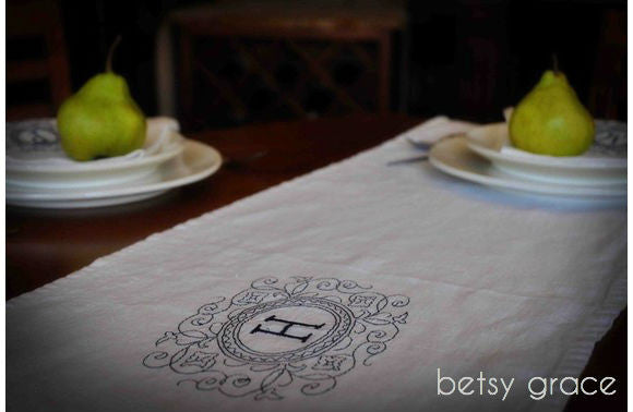 GIVEAWAY # 5 : Monogrammed Table Linen