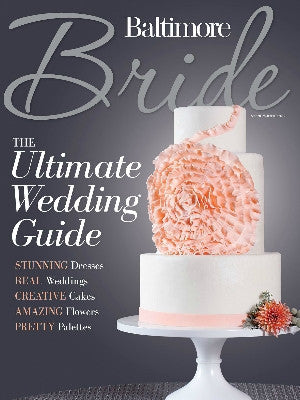 Baltimore Brides Cover - cake stands