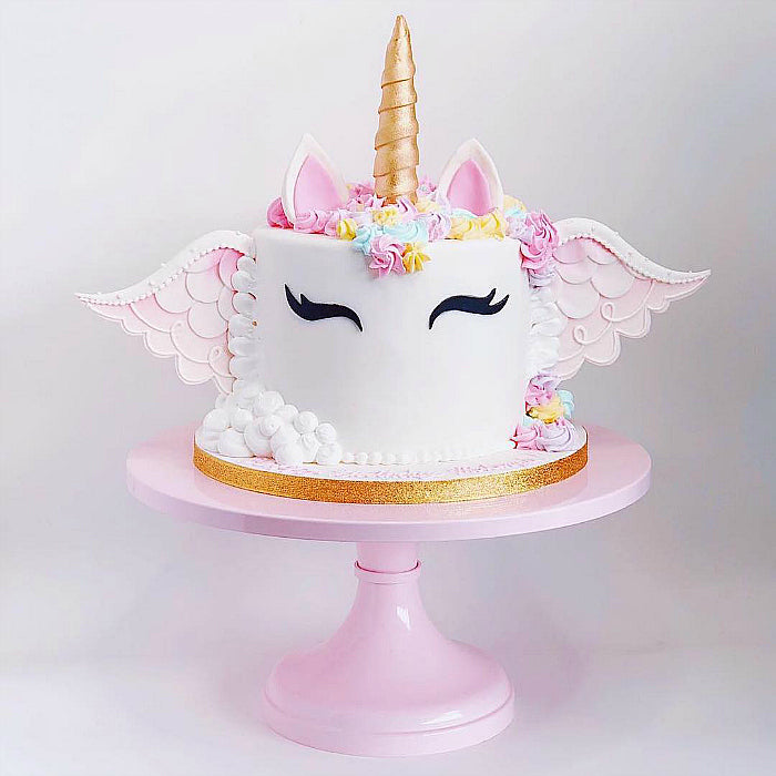 Unicorn Cake on Pink 16 inch Cake Stand