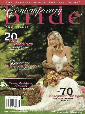 Contemporary Bride Spring 2012 - Cover - cake stand