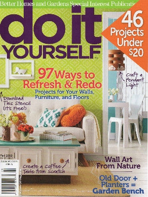 DIY mag, Fall 2012, cover, cake stand