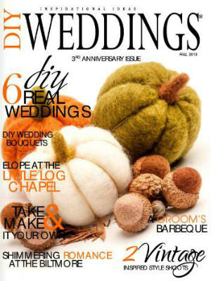 DIY weddings Mag, Fall 2013, Cover, cake stand