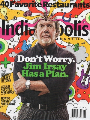 Indianapolis Monthly Cover - cake stands