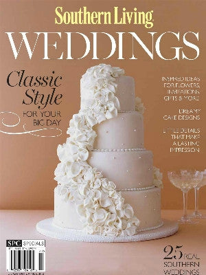 Southern Living Wedding winter 2012  - Cover - cake stands