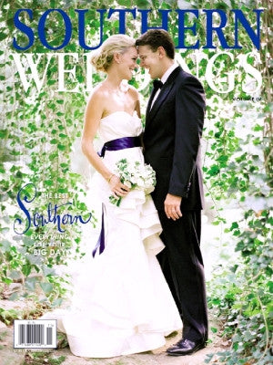 Southern Weddings Cover 2011 winter - cake stand
