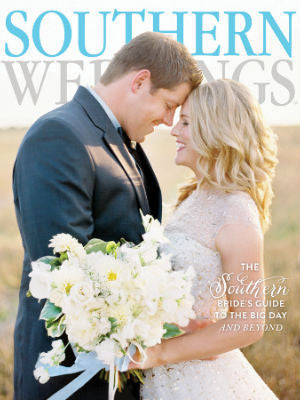 Southern WEddings, fall 2013, Cover, cake stand