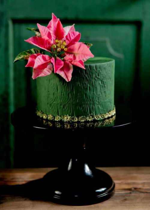 Dramatic Cake on 12 inch Black Cake Stand