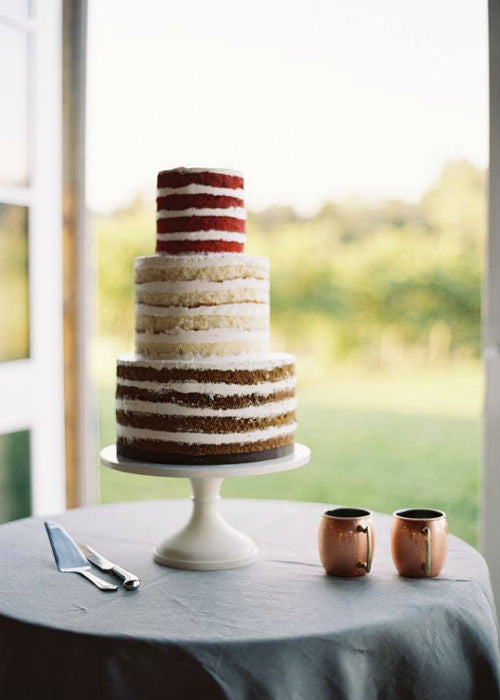 Naked Cake on 14 inch White Cake Stand