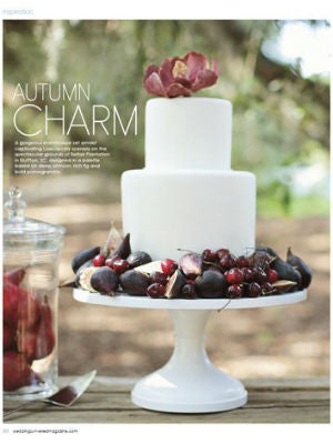 Weddings Unveiled, Fall 2012, Interior, cake stand