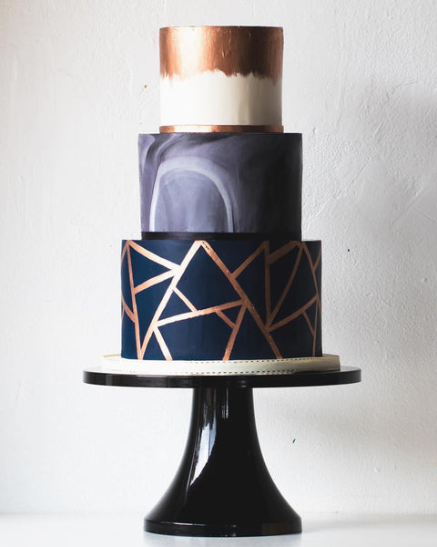 Geometric Cake with amazing cake stand