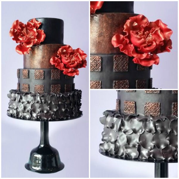 Black Wedding Bell Cake Stands