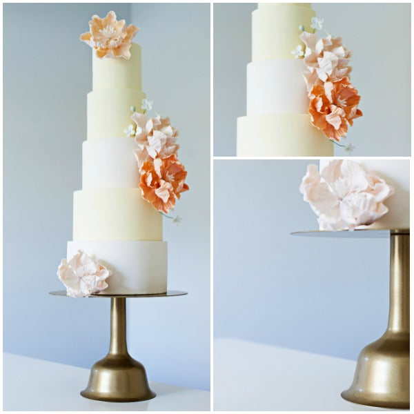 Gold Wedding Bell Cake Stands