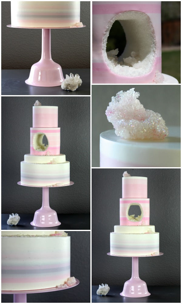 Pink Wedding Bell Cake Stands