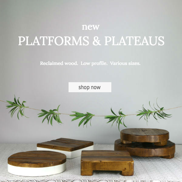 Reclaimed Wood Cake Stands