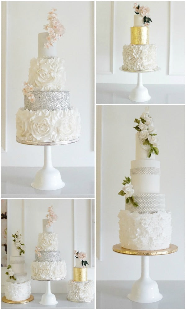 White Wedding Bell Cake Stands