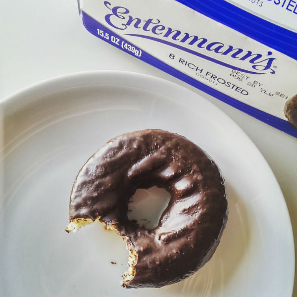 3 Friends Having Dessert Entenmanns Frosted Doughnuts