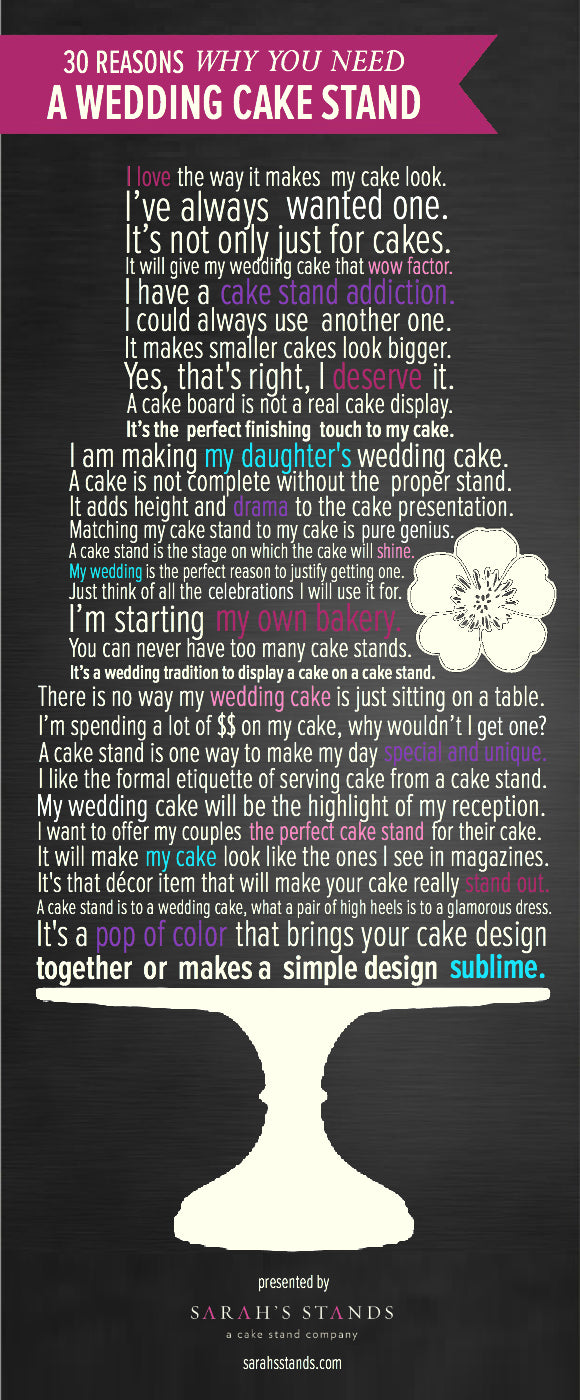 30 Wedding Cake Stand Reasons.