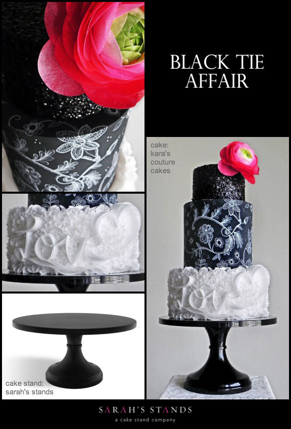 Black Wedding Cake Stands.