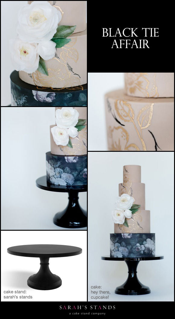 Black Wedding Cake Stands