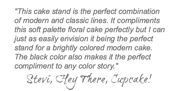 Black Wedding Cake Stand Quote