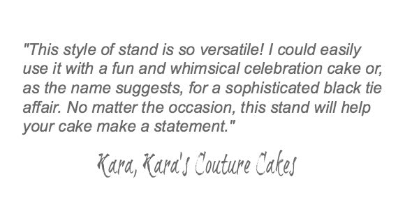 Black Wedding Cake Stand Quote.