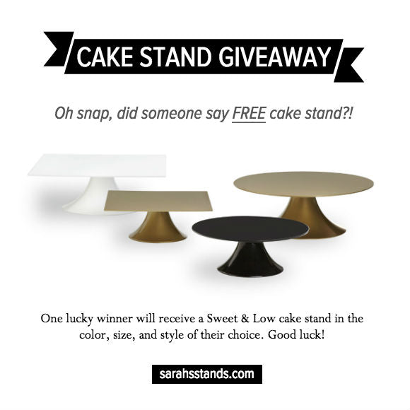 Wedding Cake Stand Giveaway