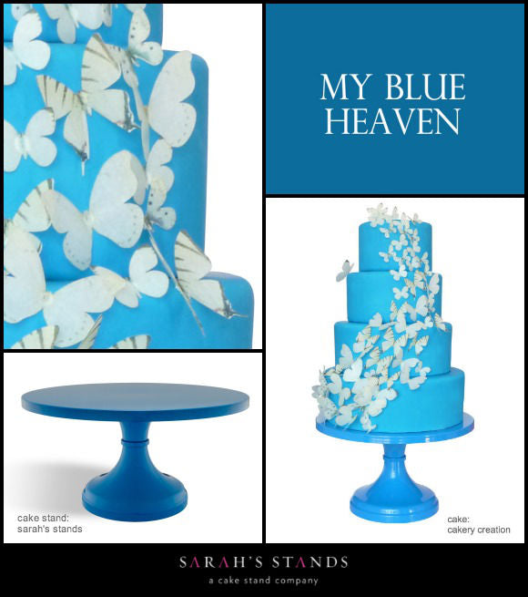 Blue Wedding Cake Stands.