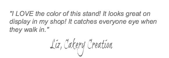 Blue Wedding Cake Stand Quote.