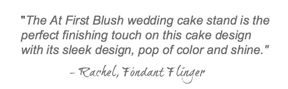Blush Pink Wedding Cake Stand Quote.