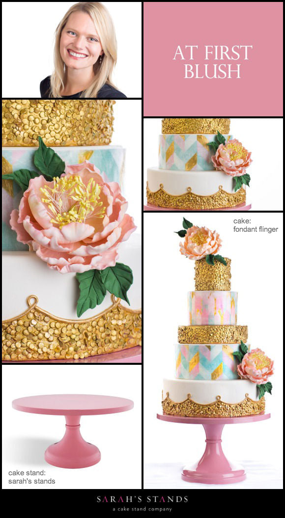 Pink Wedding Cake Stands.