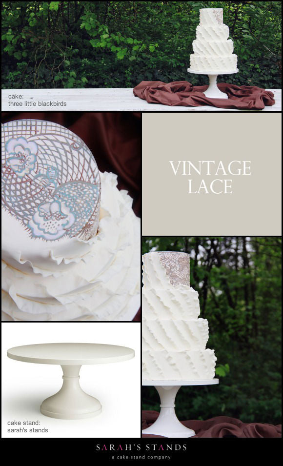 Ivory Wedding Cake Stands.