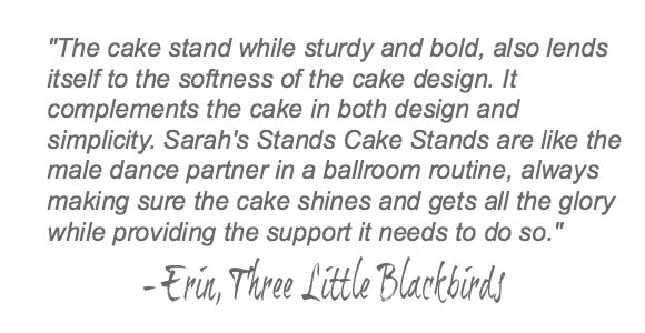 Ivory Wedding Cake Stand Quote.