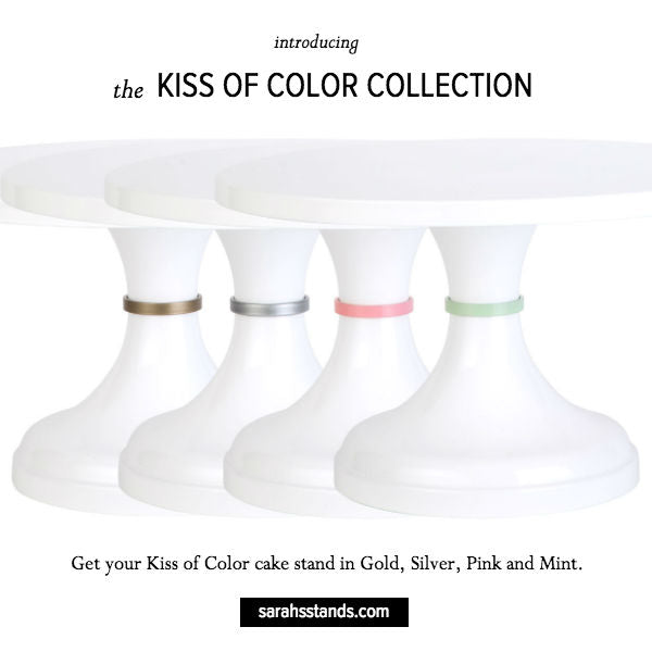 Kiss of Color Wedding Cake Stands