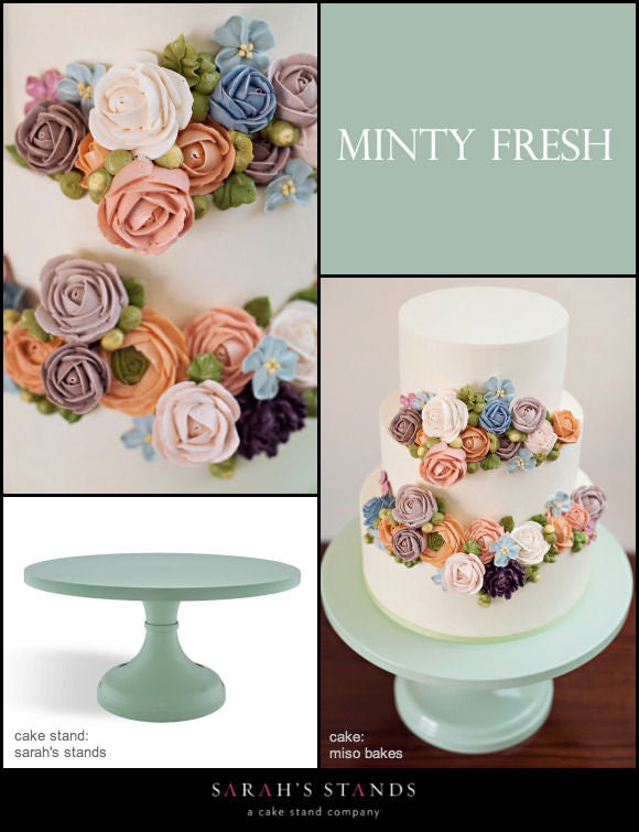 Mint Green Wedding Cake Stands.