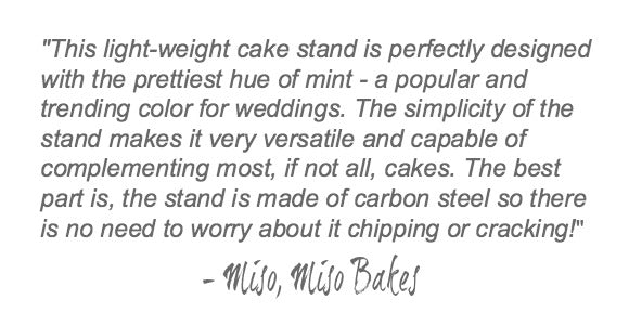 Mint Green Wedding Cake Stand Quote.