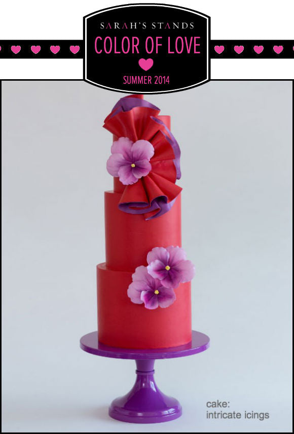 Purple Wedding Cake Stand.