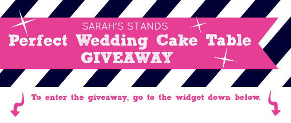 Wedding Cake Stands Giveaway Banner
