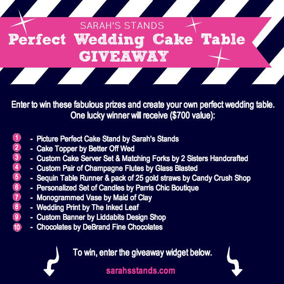 Wedding Cake Stands Giveaway
