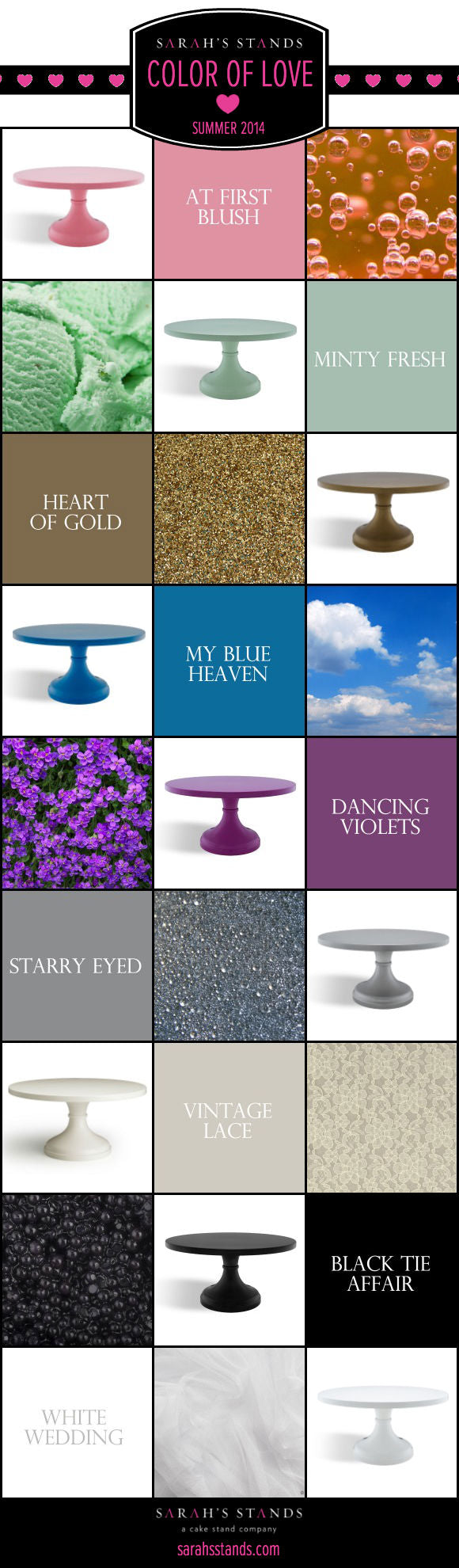 New Wedding Cake Stand Colors.