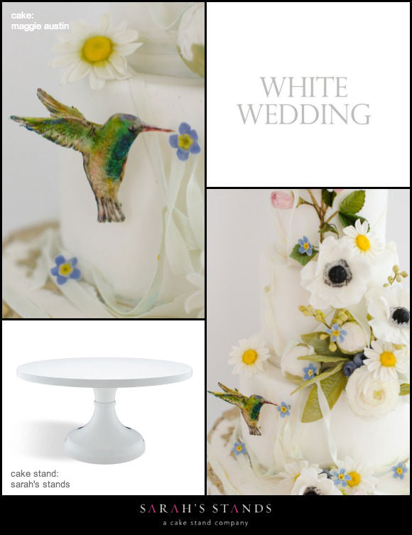 White Wedding Cake Stands.