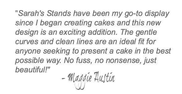 White Wedding Cake Stand Quote.