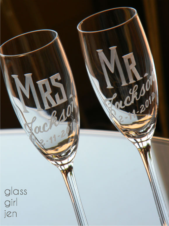 Champagne Flutes - Sarah's Stands.