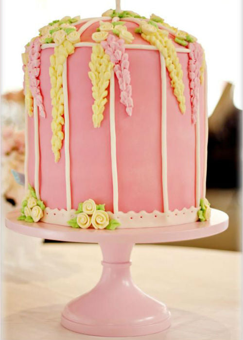 Pink Cake Stand.