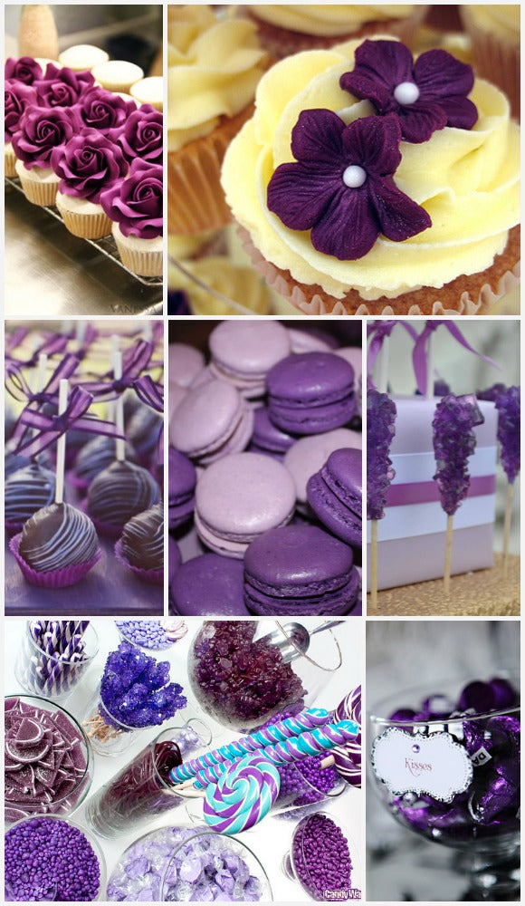 Purple Cake Stands.