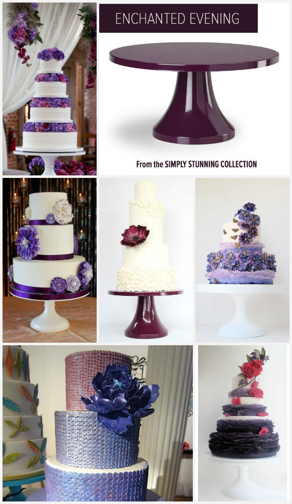 Purple Wedding Cake Stands.