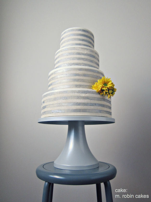 Shimmering Lights Silver Cake Stand.
